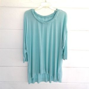 Lane Bryant Blue Top Soft Blouse 22 / 24